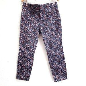 GAP Navy Floral Print Skinny Ankle Pants Size 12R